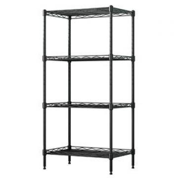 Wholesale chrome metal display rack wire mesh closet shelving with wheels